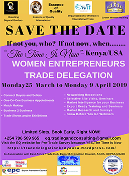 Time Is Now | Women Entrepreneurs Trade Delegation